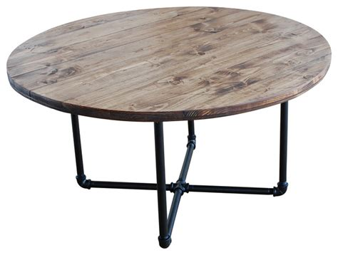 Southern Kitchen Ideas round industrial coffee table with pipe legs industrial