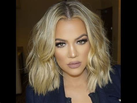 how to : khloe kardashian inspired bob hairstyle youtube