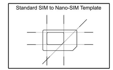 how to cut sim card to nano sim template micro sim to nano sim template sim cutting guide