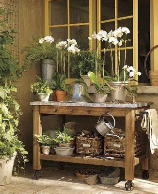 flower potting bench roses and rust potting benches and other things