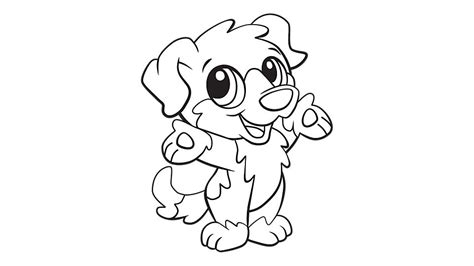 Coloring Pages Baby Dogs | baby dog coloring printable