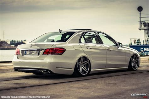 bagged mercedes e class image gallery stanced benz