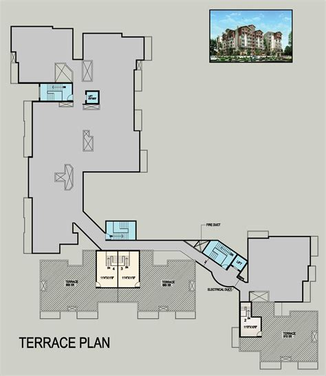 terrace floor plans inland eon gandhinagar mangalore