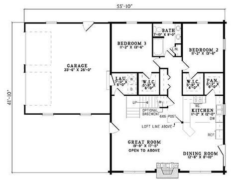 3 Bedroom 2 Bath House Plans by Plan 110 00934 3 Bedroom 2 Bath Log Home Plan