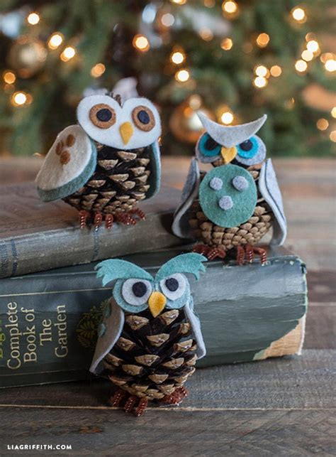 owl crafts for to make how to make felt and pinecone owl diy crafts