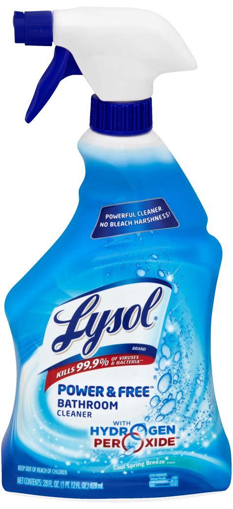 lysol bleach  hydrogen peroxide bathroom cleaner spray fresh oz walmartcom