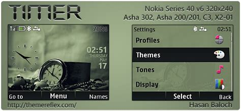 hd themes for nokia asha 302 timer theme for nokia asha 302 c3 00 x2 01 320 215 240