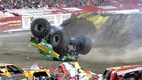 monster truck crash videos youtube monster jam 2012 ta truck crash compilation 720p