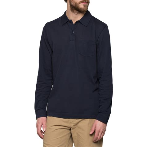 most comfortable polo shirts sunspel navy long sleeve riviera polo shirt in blue for