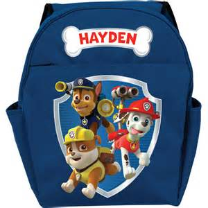 personalized paw patrol ready adventure blue toddler backpack bags amp accessories walmart