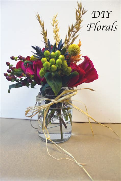 the hourglass diy mason jar floral arrangements