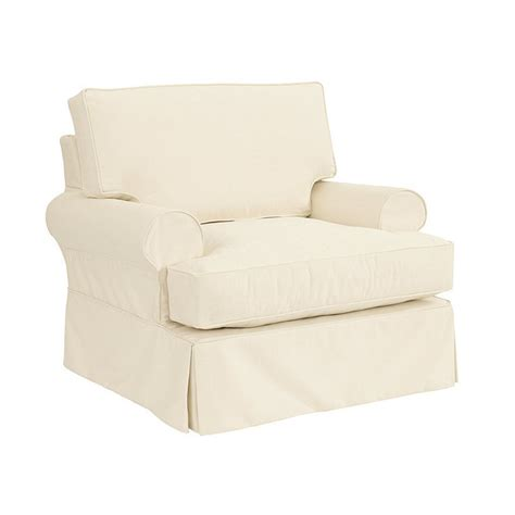 slipcover material davenport club chair slipcover and frame ballard designs