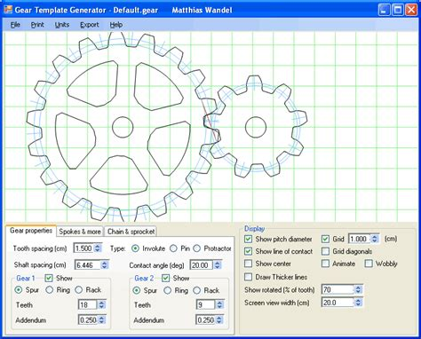 template layout generator gear template generator program cogs gears mechanics