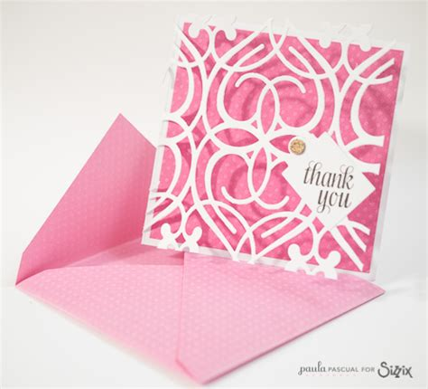 Sizzix Thinlits Dies Die Cut And Arrow Card ppascual daily inspiration from our
