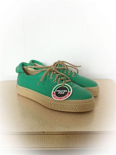 deadstock sneaker vintage 1980s travel fox green shoes sneakers deadstock