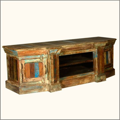 59 quot rustic reclaimed wood distressed tv media stand