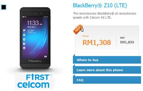 Handphone Blackberry Z10 Di Malaysia blackberry z10 malaysia price technave