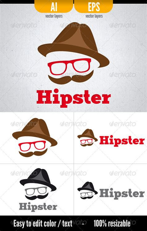 hipster logo template by doghead on deviantart