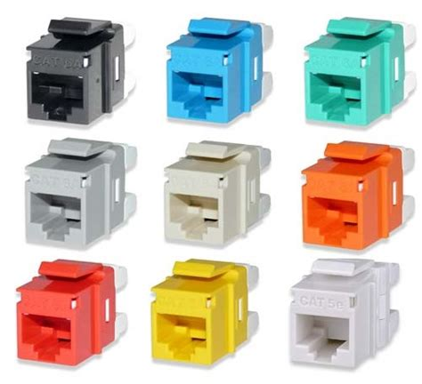 jacks of color cabling ethernet keystone color conventions