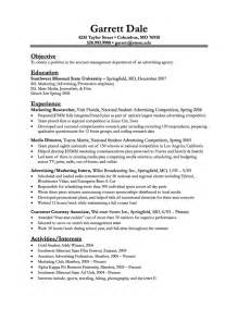 resume sles advertising accounts executive resume