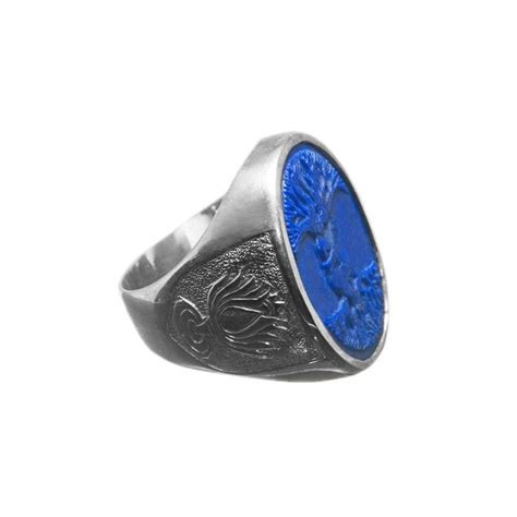 lapis lazuli ring tree of sterling silver 925