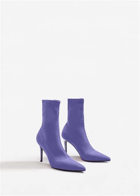 sock high heel boots heel sock boots mango usa