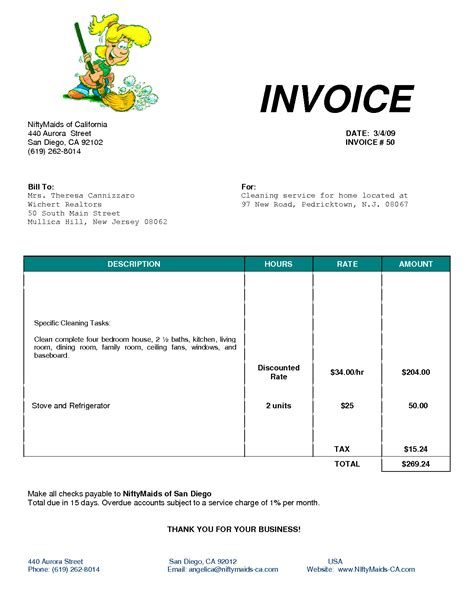 service invoice template free word download australia example format
