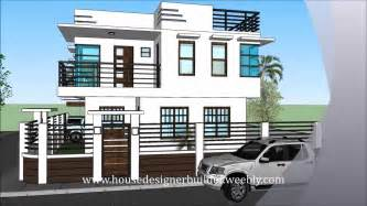 home design app two story modern 2 storey house with roofdeck youtube