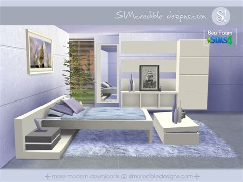 furniture by simcredible custom content sea foam bedroom by simcredible at tsr 187 sims 4 updates