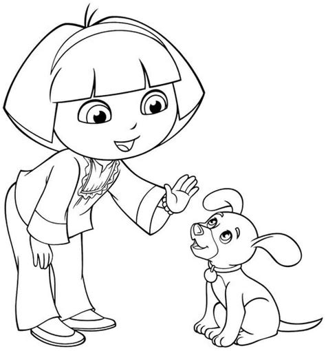 dora and friends coloring pages games image cartoon dora the explorer and friends coloring