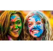 Happy Holi 2015 Girls Colorful Faces Wallpaper  Best HD