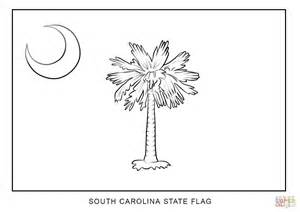 How To Draw The Outline Of Carolina by Flag Of South Carolina Coloring