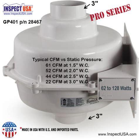 radon mitigation fan reviews radonaway pro series fan 3 inch inlet outlet gp401