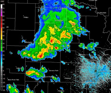 wausau weather radar map thunderstorms produce wind damage in central and east
