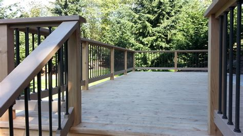 premium deck railings powder coated aluminum glass or