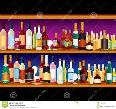 bar shelves stock vector image  goblet booze flute