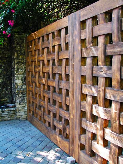 Trellis Fences Designs Fence Minding Living X Design