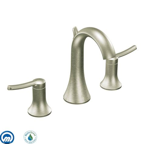 kitchen sink faucets moen faucet com ts41708bn in brushed nickel by moen