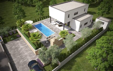 haus garten beautiful modernes haus mit pool und garten gallery
