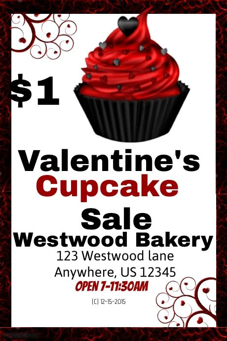 cupcake flyer templates free cupcake sale template postermywall