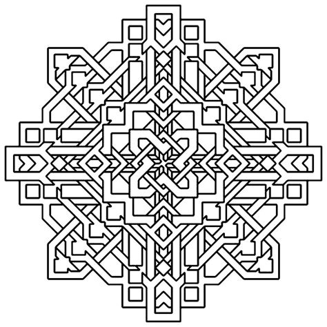 Coloring Page For by Free Printable Geometric Coloring Pages For