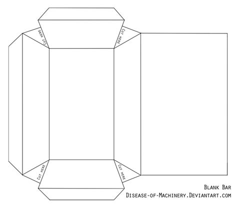 Blank Papercraft - blank currency bar papercraft by disease of machinery on