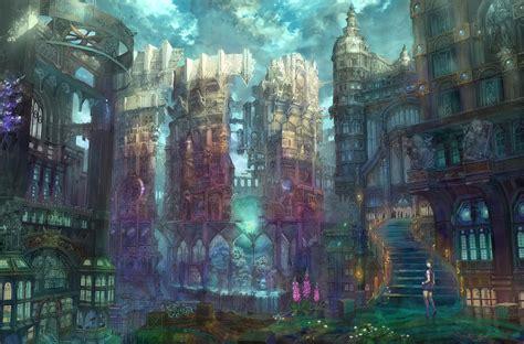 digital japan anime japan architecture digital wallpapers