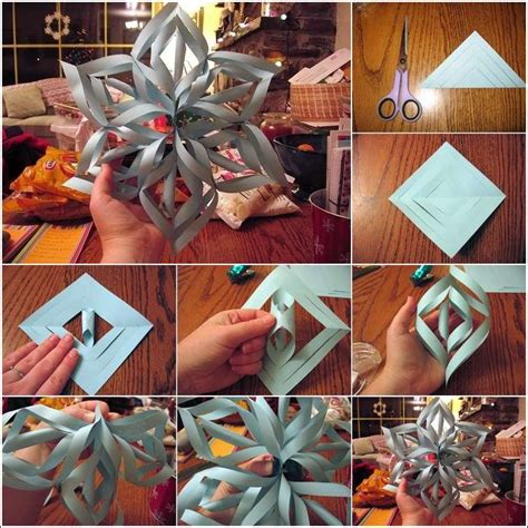 How To Make Amazing Paper Snowflakes - how about trying this 3d paper snowflake