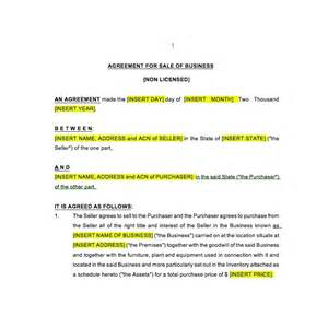 business sale template sale of business agreement law4us agreement template