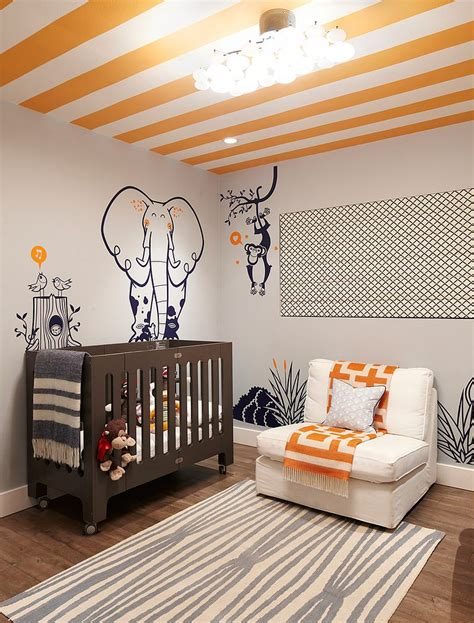 beach style ceiling 20 chic nursery ideas for those who adore striped walls