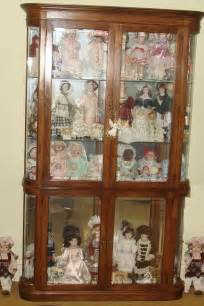 pulaski furniture corp lighted curio doll knick knack cabinet glass shelves door ebay
