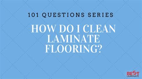 how do i clean laminate floors