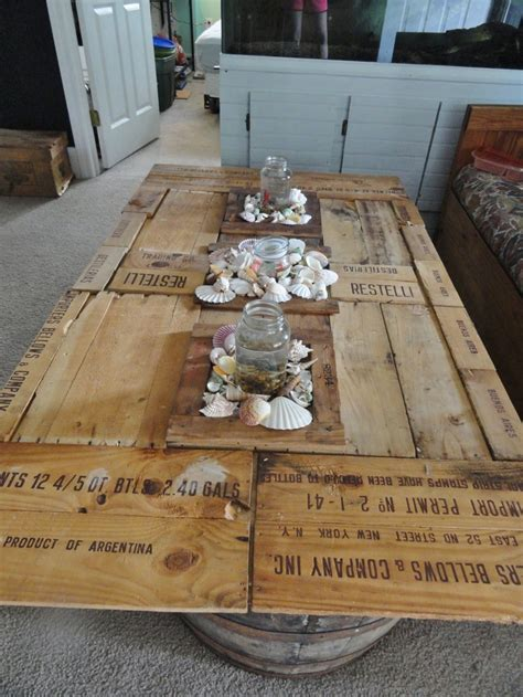 coffee table i made out of crates country