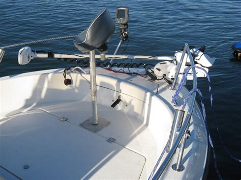 bow boat mount trolling motor with bow railing the hull truth boating